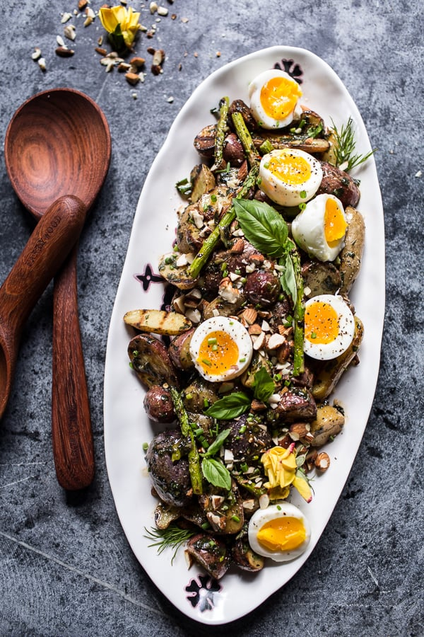 Grilled Potato Salad With Basil Chimichurri and Soft-Boiled Eggs