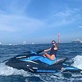 Kendall Jenner Polka Dot Bikini in Cannes May 2019