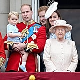When He Attended the Trooping the Colour Ceremony