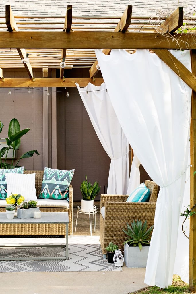 DIY Pergola Curtains