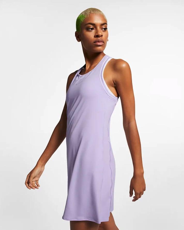 NikeCourt Dri-FIT Tennis Dress in Oxygen Purple
