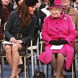 Kate Laughing With Queen Elizabeth 2012