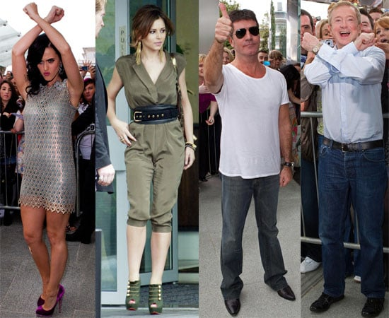 Pictures of Katy Perry On The X Factor Judging Panel With Cheryl Cole, Simon Cowell, Louis Walsh