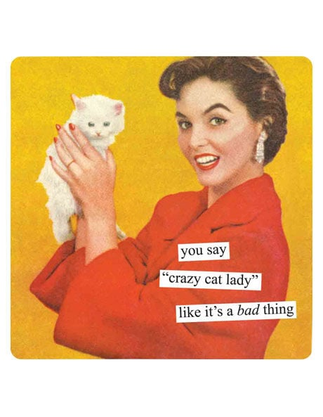 Anne Taintor Crazy Cat Lady Magnet, $6.95