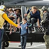 Only Brad Pitt can make hopping out of a helicopter 10 times more thrilling . . . and beautiful.