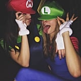 Kendall Jenner as Mario and Cara Delevingne as Luigi