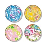 Lilly Pulitzer Porcelain Round Appetizer Plate Set