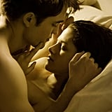 See Shirtless Robert Pattinson and Kristen Stewart in Sexy Bedroom Scene in the First Still From Breaking Dawn!