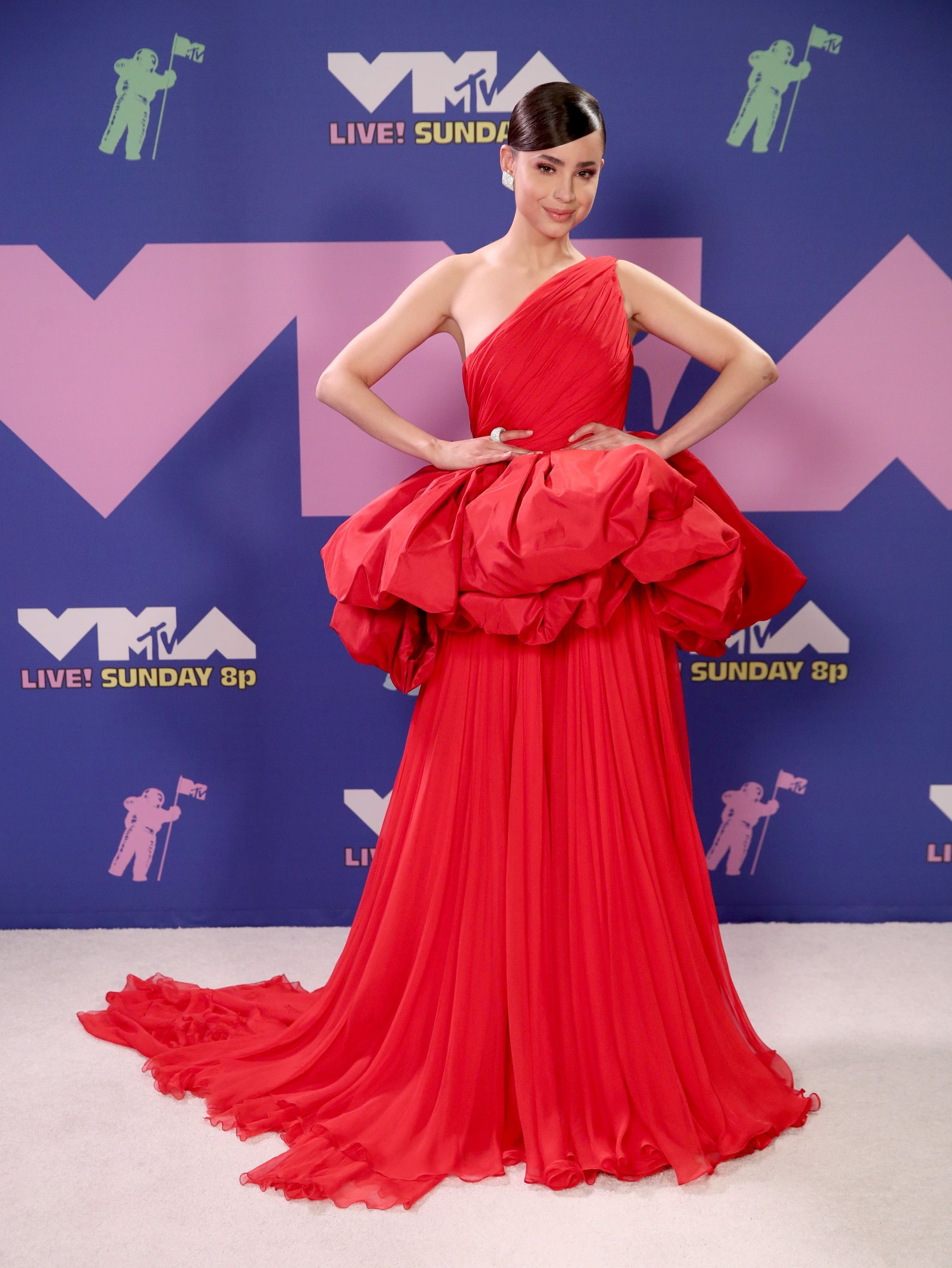 Sofia Carson at the 2020 MTV VMAs | The MTV VMAs Red Carpet Is the Fashion  Fix We've All Been Missing | POPSUGAR Fashion Photo 12