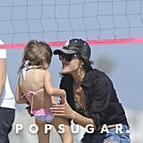 Alessanda Ambrosio smiled at her daughter Anja Mazur.