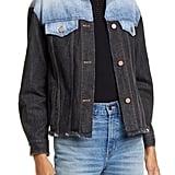 La Vie Rebecca Taylor Colorblock Denim Trucker Jacket