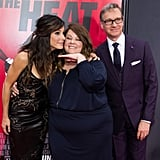 Sandra Bullock and Melissa McCarthy were joined by their director, Paul Feig, on the red carpet at the NYC premiere of The Heat.