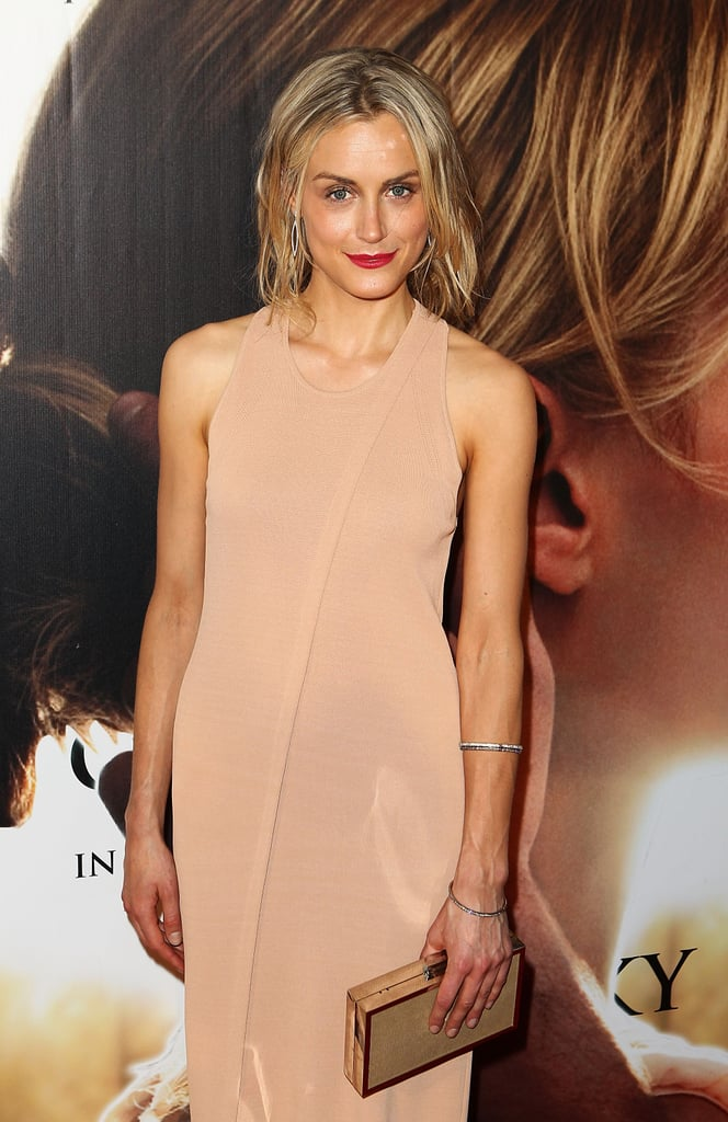 Taylor Schilling on the red carpet of The Lucky One premiere in Melbourne.