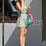 Blake looked perfectly California in her short skirt.