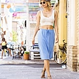Pair a Crop Top With a Cotton Skirt