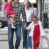 Ben Affleck was on dad duty while shopping for Mother's Day gifts in LA with Seraphina Affleck, Violet Affleck, and wife Jennifer Garner's dad.