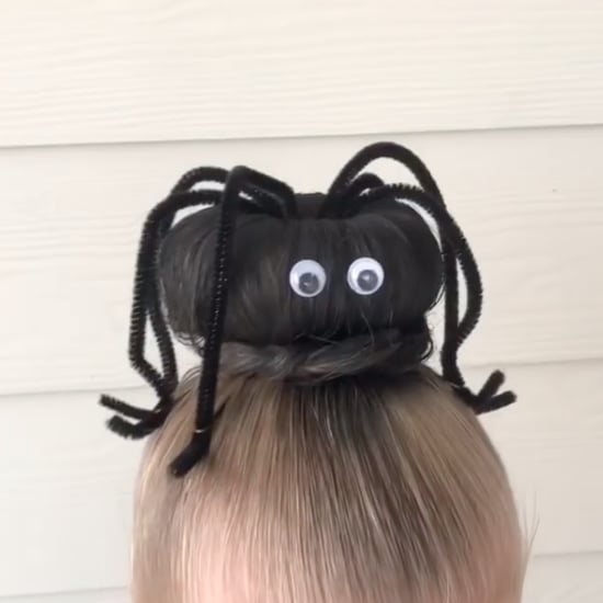 Mom's DIY Hairstyle on Daughter For Halloween