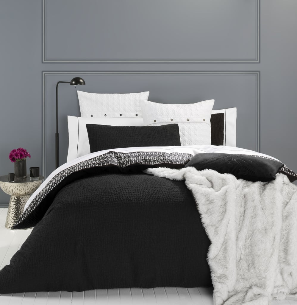 Black and white bedding target - Get In Bed With Megan Gale