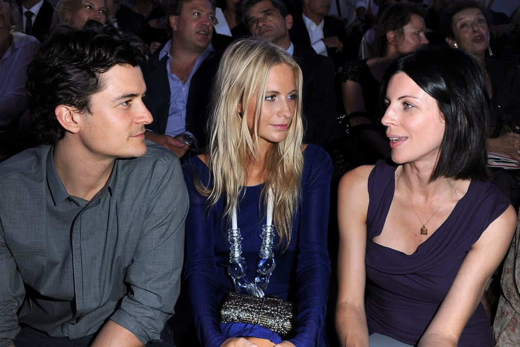 Orlando Bloom, Poppy Delevigne and Liberty Ross at Christian Dior