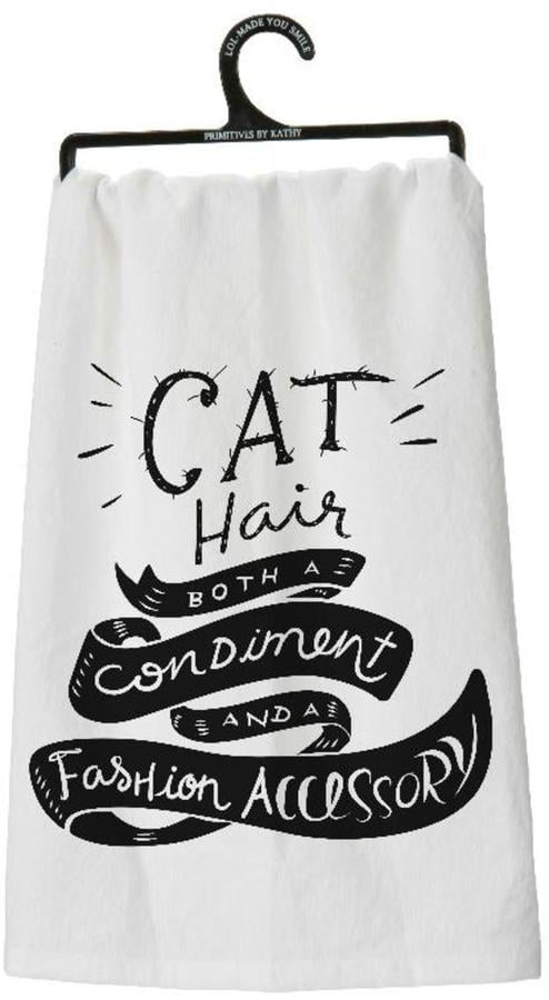 Bekah Kate's Dishtowel Cat Hair ($9)