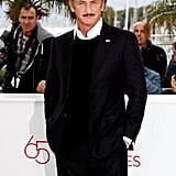Sean Penn looked dapper in black in Cannes.