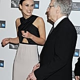 Keira Knightley had a laugh with David Cronenberg.