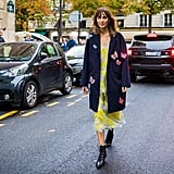 Wear a Summer Slip Under a Fall Jacket With Combat Boots