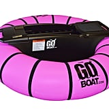 The GoBoat Motorized Pool Float in Pink