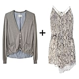 This breezy chiffon mini in a standout snake-print gets a pared-down complement in a neutral-toned cardigan for a look that's pretty, but not overly dressy. Just finish with a pair of neoprene ballet flats when Spring nears.  Boy by Band of Outsiders Gathered Hem Cardigan ($378, originally $539), Zadig & Voltaire Romain Python-Print Silk-Chiffon Dress ($450)
