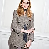 Olivia Palermo's Way: Let One End Hang Down and Contrast the Print With Your Look