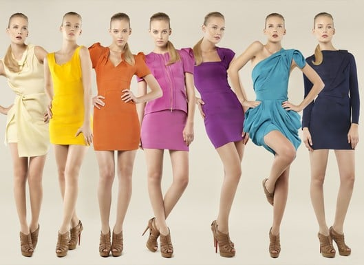 Roland Mouret's Rainbow Colored Limited Edition Collection for Net-a-Porter