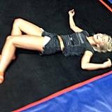 Julianne Hough had fun in a foam pit. Source: Instagram user juleshough