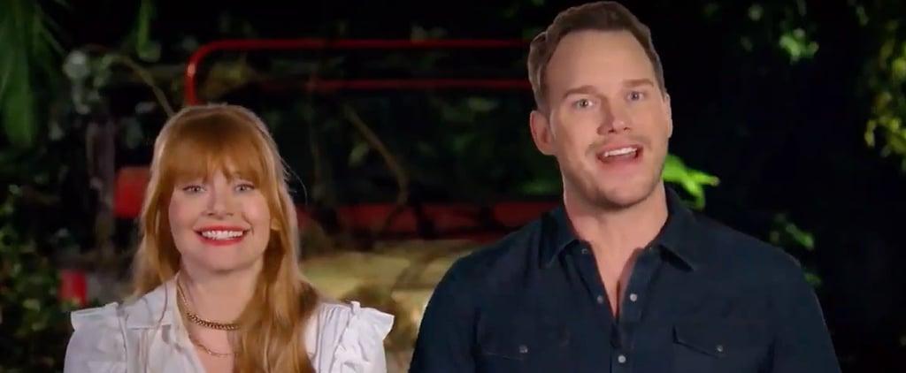 Chris Pratt and Bryce Dallas Howard Explaining Jurassic Park
