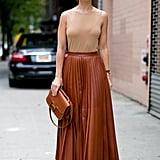 A Neutral Maxi Skirt