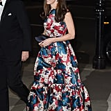 For a charity gala in London in 2015, Kate wore a big, bold, shiny, floor-sweeping gown by Erdem.