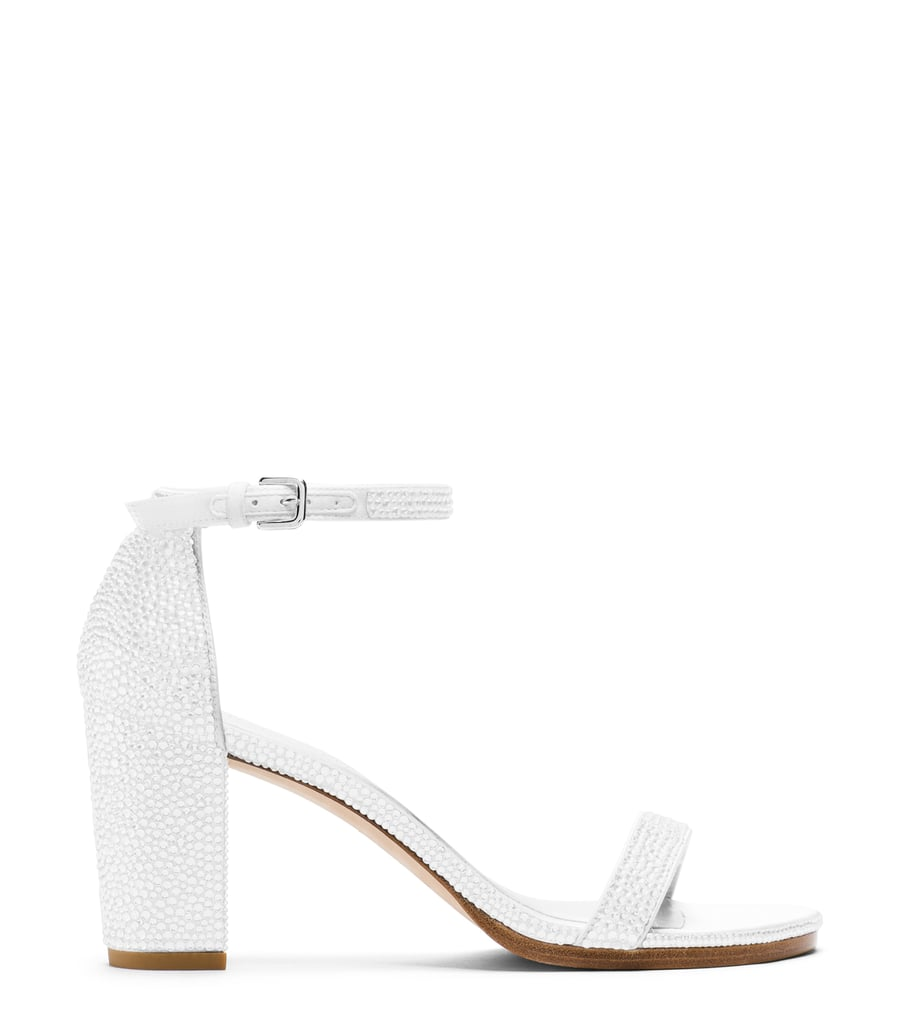 Nearlynude Sandal in Pavé Crystals Chalk White ($2,200)