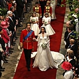 """On the morning of their wedding, William was decreed Duke of Cambridge, and Kate became the Duchess of Cambridge. They also followed in Princess Diana's footsteps by omitting """"obey"""" from their wedding vows. William has said in interviews that he """"very much felt"""" his mother's presence during his big day."""