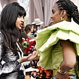 Jameela Jamil and Kelly Rowland at the 2020 Roc Nation Brunch in LA