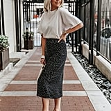 A Casual Midi Skirt Look