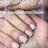 Kim Kardashian's French Manicure in February 2019