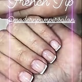 Kim Kardashian Wears French Tips