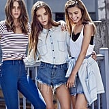 Girls on screen! From left, Isabelle Cornish, Inka Williams and Sarah Ellen on the Supré Girl Gang campaign set.