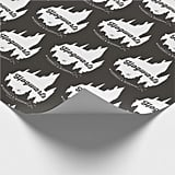 Harry Potter Hogwarts Castle Typography Wrapping Paper
