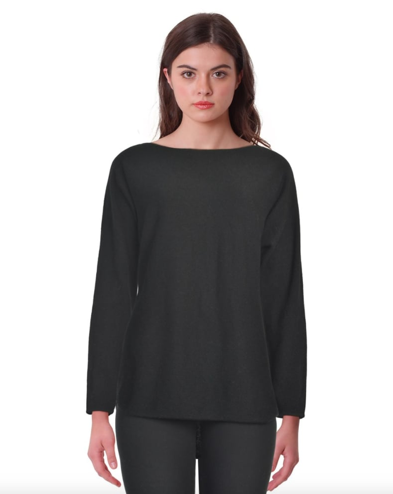 Charter Club Cashmere Boatneck Hi-lo Long Sleeve Sweater ($89, originally $111)