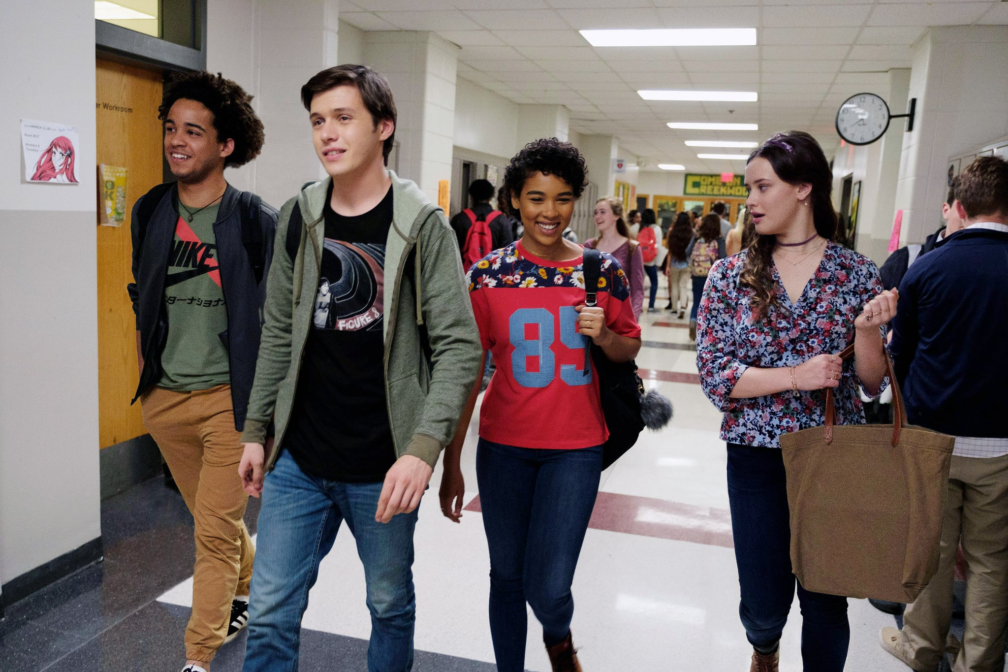LOVE, SIMON, from left: Jorge Lendeborg Jr., Nick Robinson, Alexandra Shipp, Katherine Langford, 2018. ph: Ben Rothstein /TM & copyright  Twentieth Century Fox Film Corp. All rights reserved. /Courtesy Everett Collection