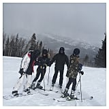 Kim shared a snap of her crew's skiing adventures.