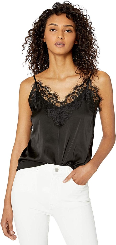 The Drop Natalie V-Neck Lace-Trimmed Camisole