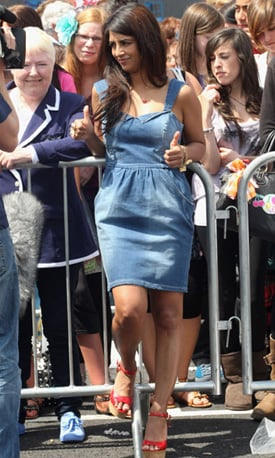 Photos of Konnie Huq in Short Denim Dress at X Factor Auditions
