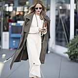 A Simple White Dress and Classic Trench