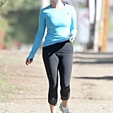 Reese Witherspoon took advantage of the clear Fall day.